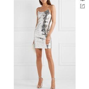 NWT Alice + Olivia Giselle Sequin Mini Dress Sz 12